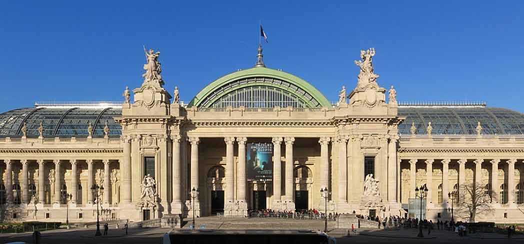 The exterior of Grand Palais in Paris