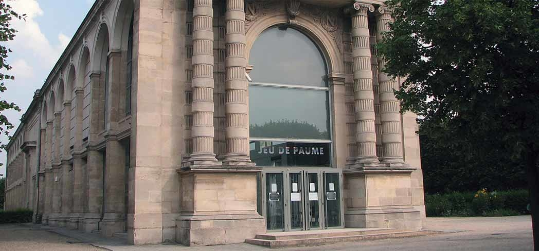 The exterior of Jeu de Paume in Paris