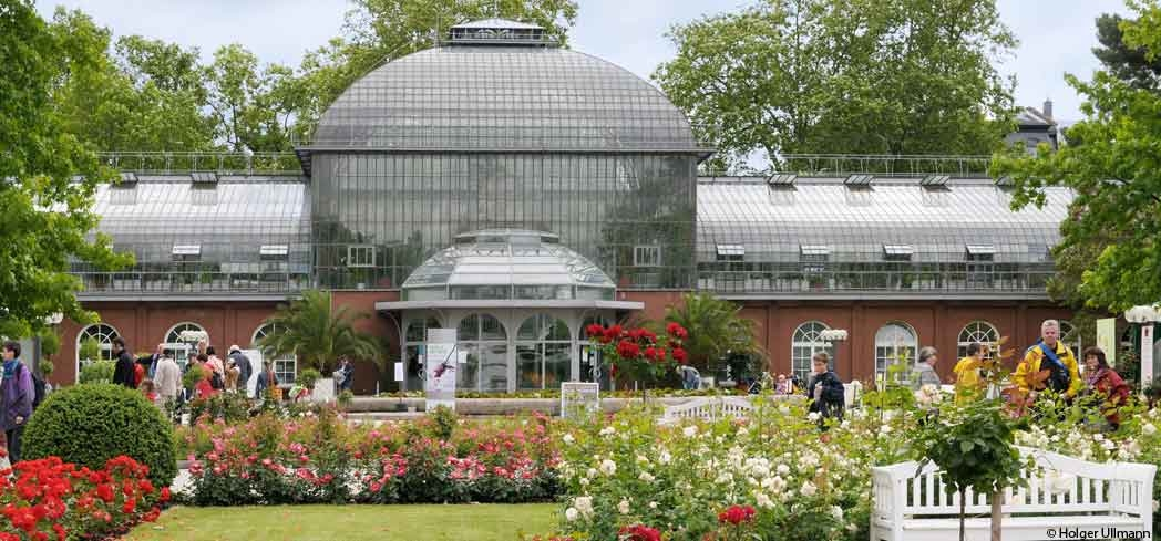 A view of the Palmengarten, located near Grüneburg Park
