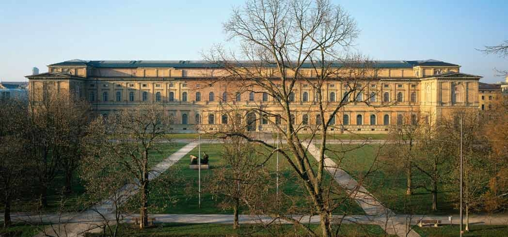 The exterior of Pinakothek Museum in Munich
