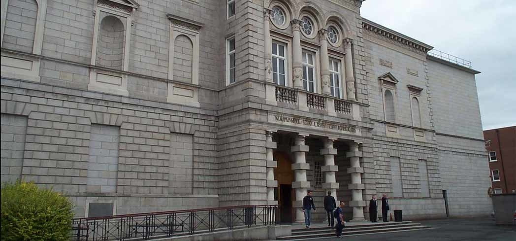 The exterior of the National Gallery of Ireland in Dublin