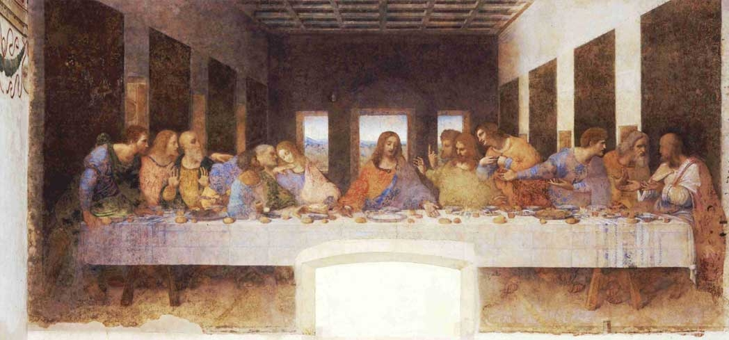 "Leonardo da Vinci's ""Last Supper"" on display at Museo Cenacolo Vinciano"