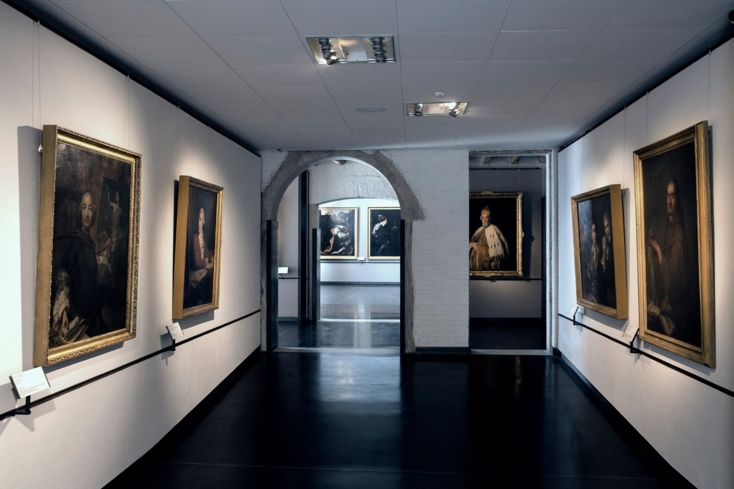Inside Gallerie dell'Accademia in Venice, Italy