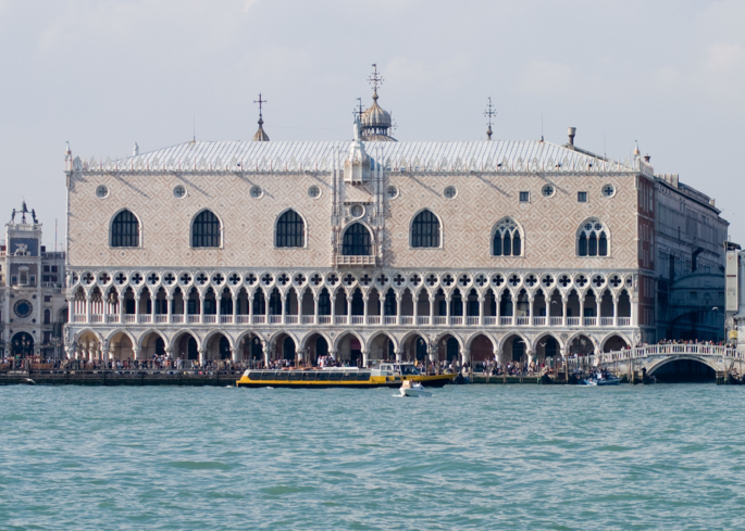 A view of Palazzo Ducale in Venice, Italy