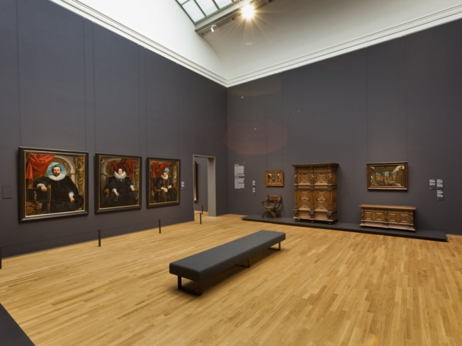 One of the exhibits at the Rijksmuseum in Amsterdam