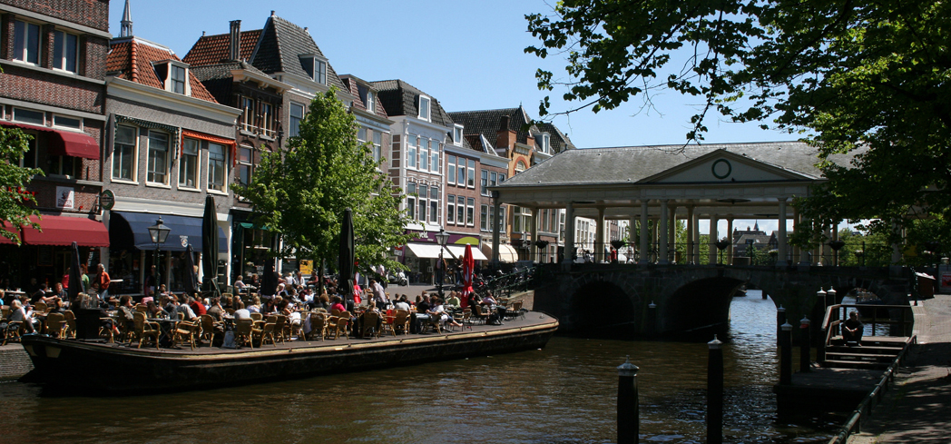 A view of Little Amsterdam in Leiden, Netherlands