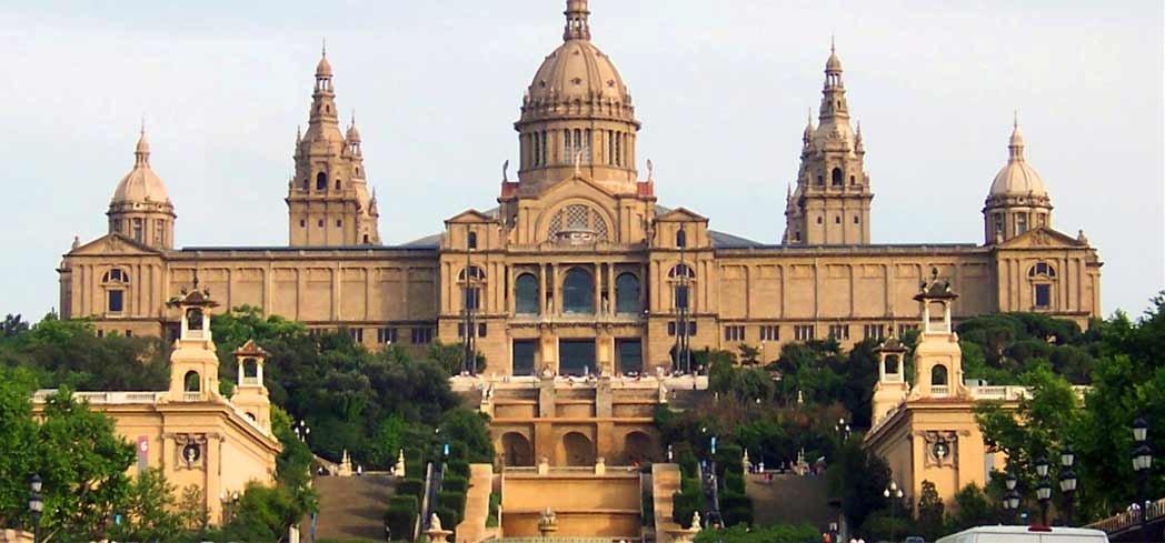 Palau Nacional located at Parc de Montjuïc in Barcelona