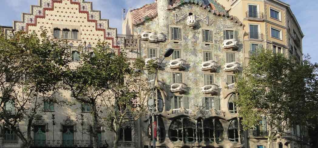 A view of Casa Amatller and Casa Batlló on Passeig de Gràcia