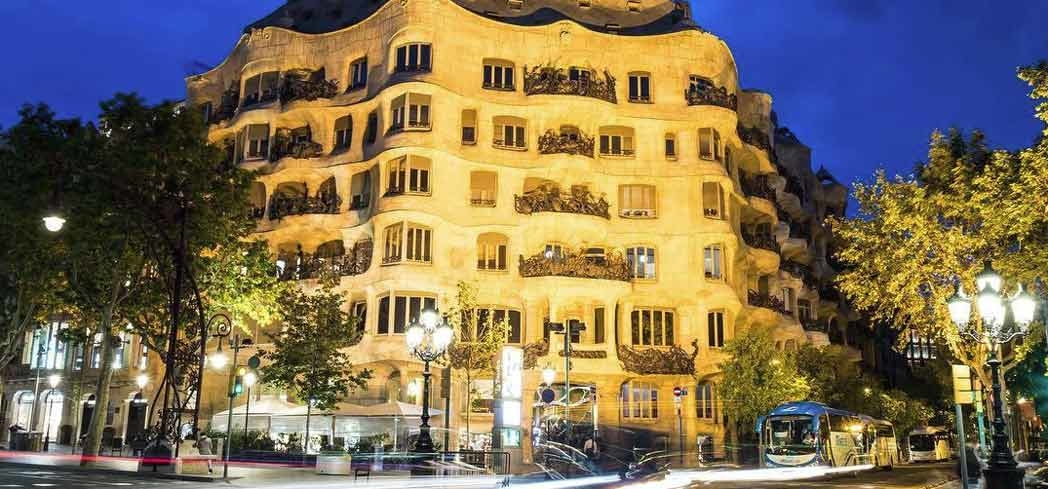 The exterior of Casa Milà in Barcelona