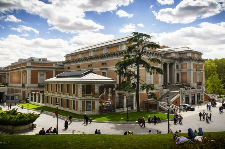 The exterior of Museo Nacional del Prado in Madrid