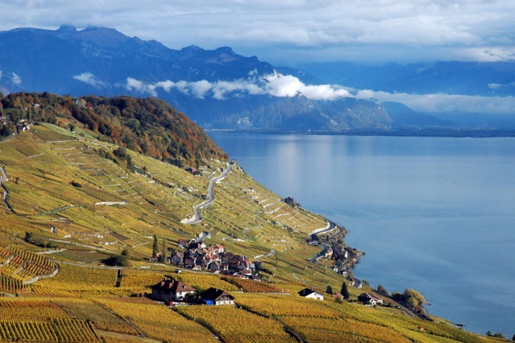 A view of the Lavaux passage in Lausanne, Switzerland