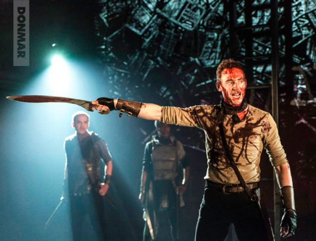 "Tom Hiddleston in a production of ""Coriolanus"" at the Donmar Warehouse"
