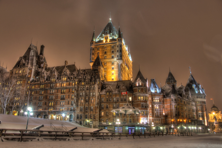 The iconic Château Frontenac