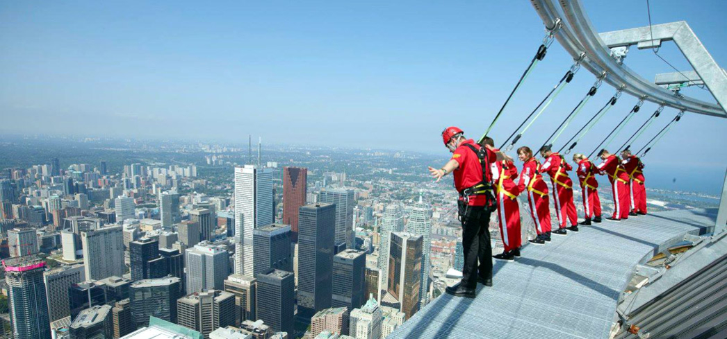 Walking on the edge of the CN Tower