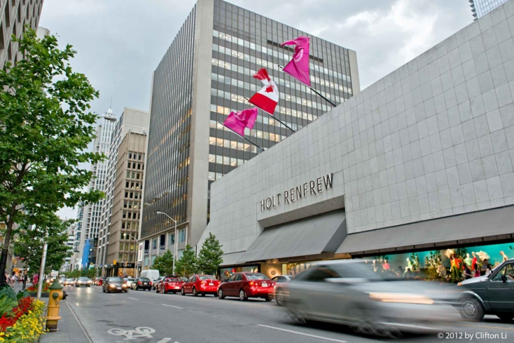 The exterior of Holt Renfrew in Toronto