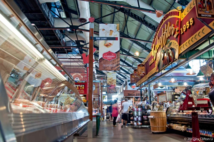 St. Lawrence Market in Toronto features more than 120 vendors