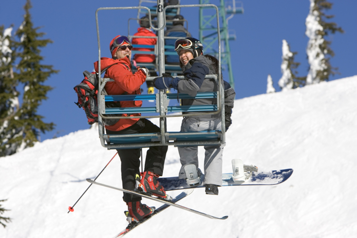 Enjoy activities such as skiing during winter at Cypress Mountain in Vancouver