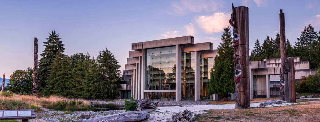 The exterior of the Museum of Anthropology in Vancouver
