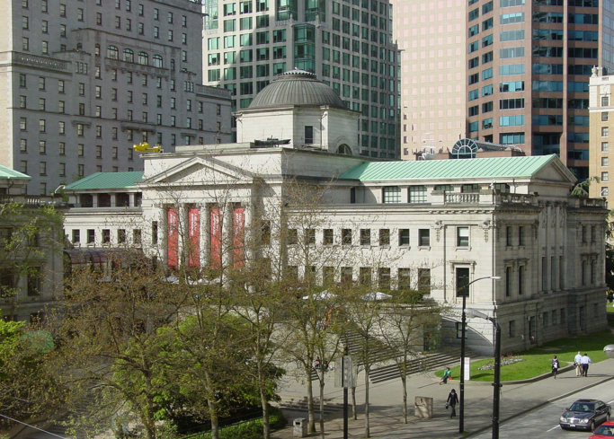 The exterior of the Vancouver Art Gallery