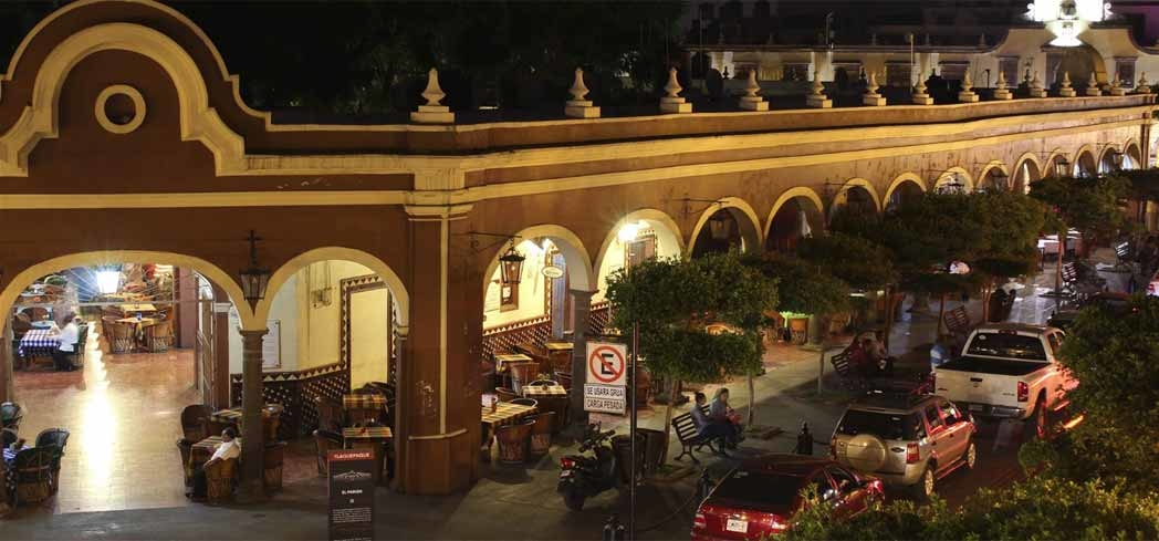 A view of El Parián de Tlaquepaque