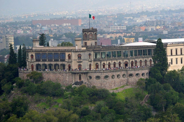 A view of Chapultepec Park in Mexico City