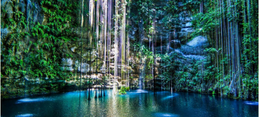 See the Subterranean treasure, Cenote Ik Kil, near Chichen Itza
