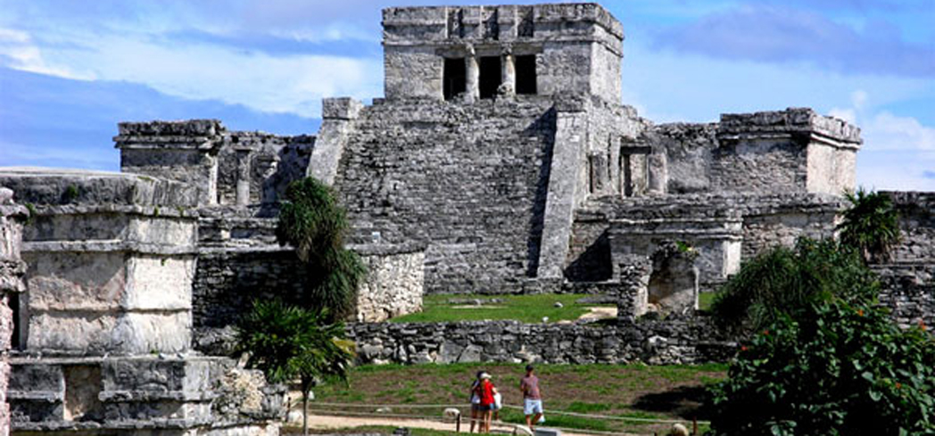The Tulum Ruins date from between 1200 and 1500 A.D.