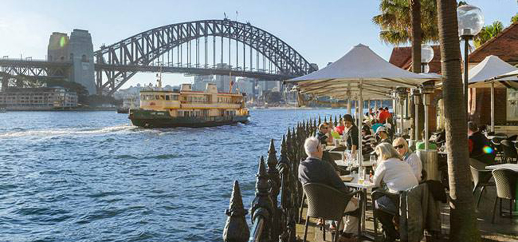 Outdoor dining at The Rocks