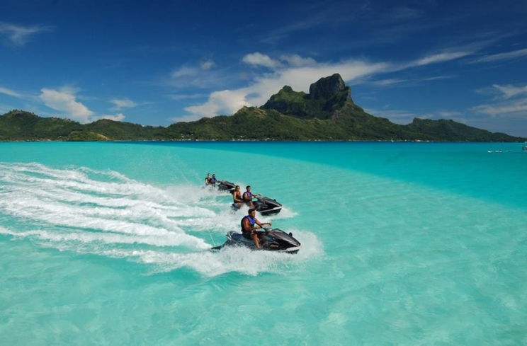 Moana Adventure Tours offers jet ski tours around the island