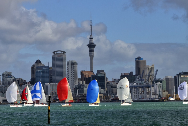 Yachts on the waters surrounding Auckland