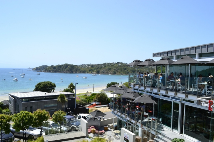 One of the restaurants on Waiheke Island in Hauraki Gulf of New Zealand