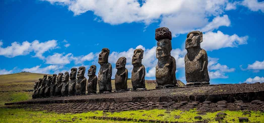 """Moai"" on Easter Island"