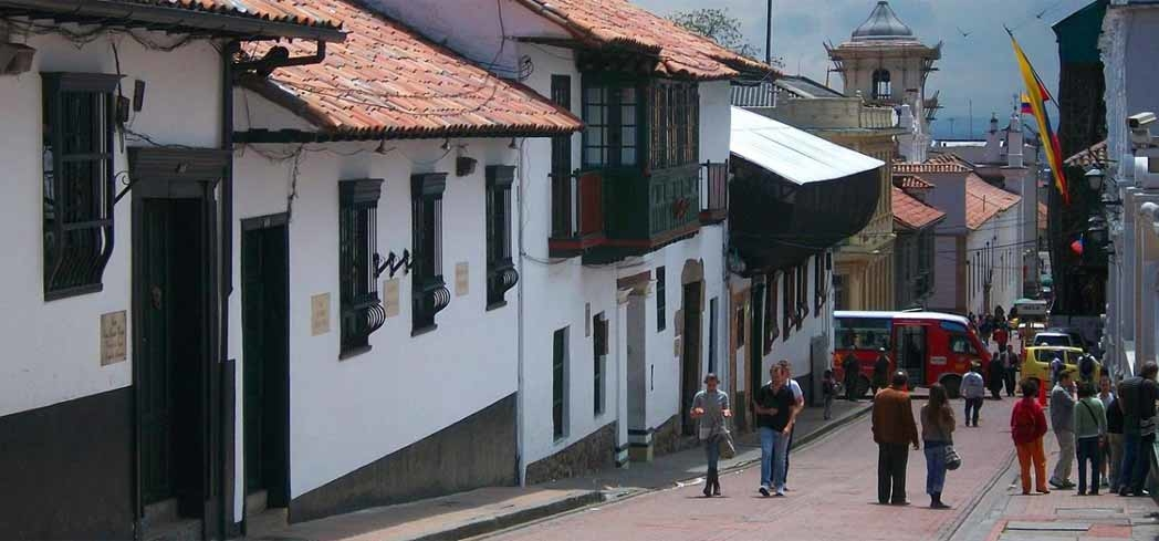 A street in La Candelaria neighborhood of Bogotá