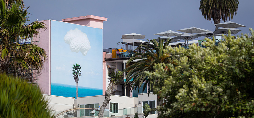 The murals are all located in the downtown art district area of La Jolla within a few blocks of each other
