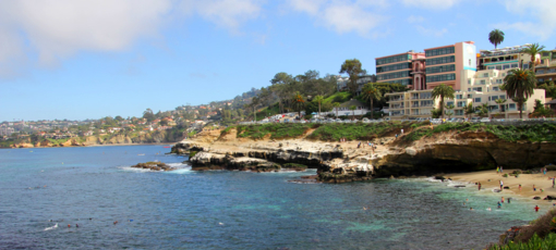 A view of the La Jolla coast