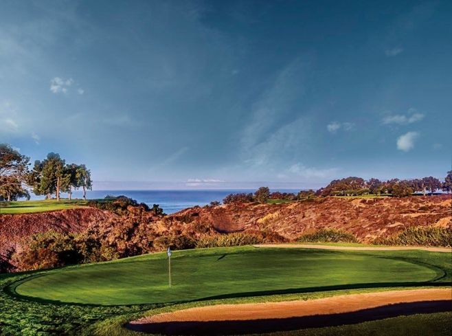 North Course Hole No. 3 at Torrey Pines Golf Course in San Diego