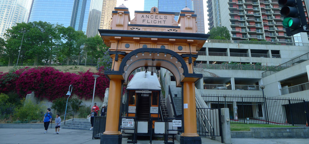 Angels Flight in downtown Los Angeles is a city landmark