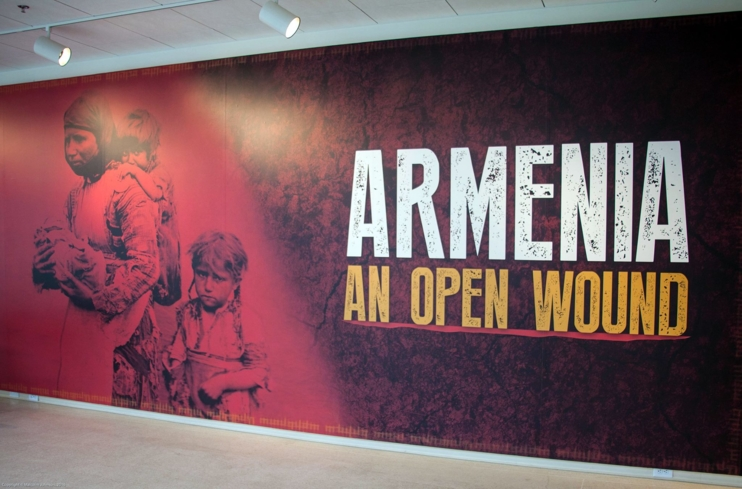 """Armenia: An Open Wound,"" a past exhibition organized by the Armenian American Museum at the Brand Library & Art Center"