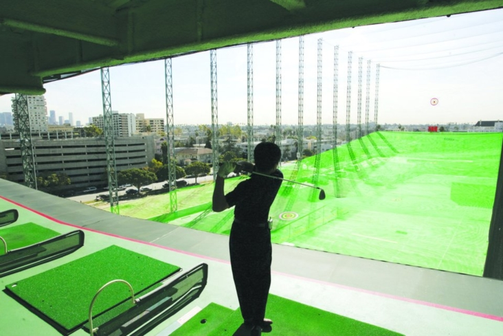 Tee off at LA's largest semi-indoor golf range