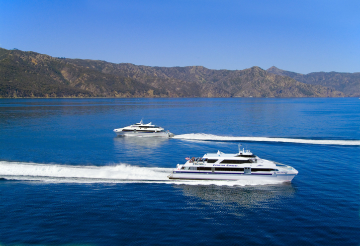 The Jet Cat Express taking off to Catalina Island