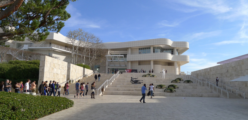 The Getty Museum atop the Santa Monica Mountains