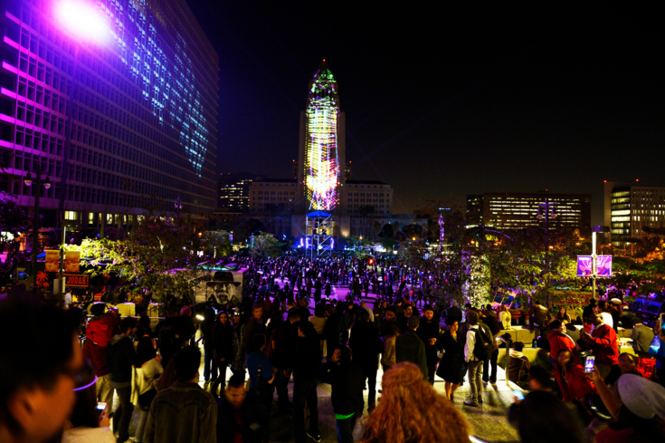 Grand Park and The Music Center team up to deliver an amazing New Year's Eve celebration in Los Angeles, California