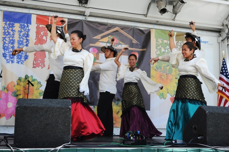 Performers at the Annual Historic Filipinotown Cultural Festival