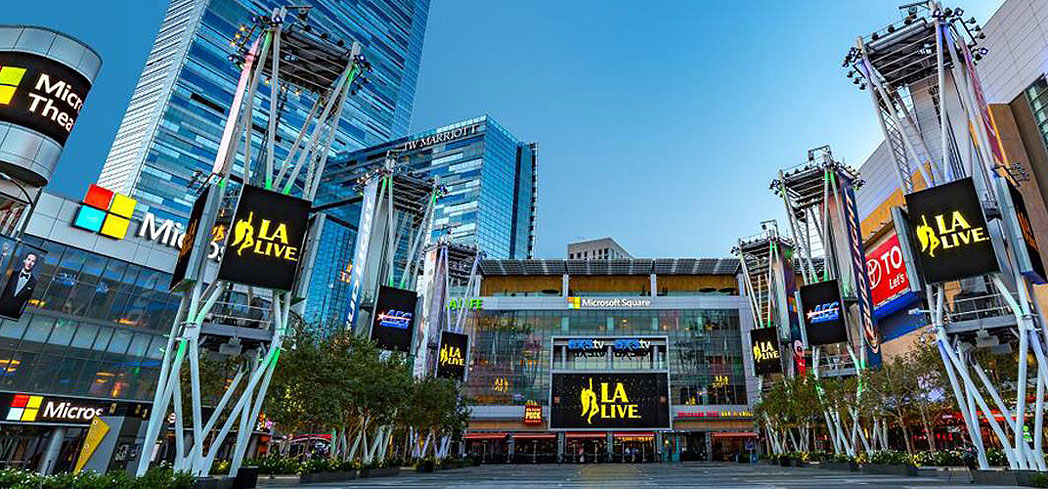 L.A. Live is the center of entertainment in downtown