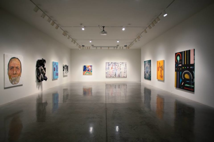 A view of the space inside L.A. Louver Gallery in Venice