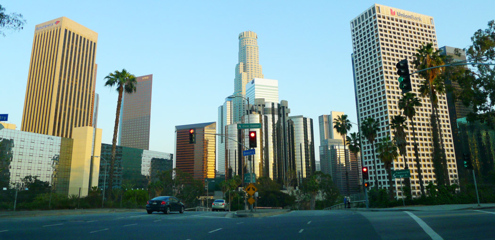 An up-close view of Downtown Los Angeles