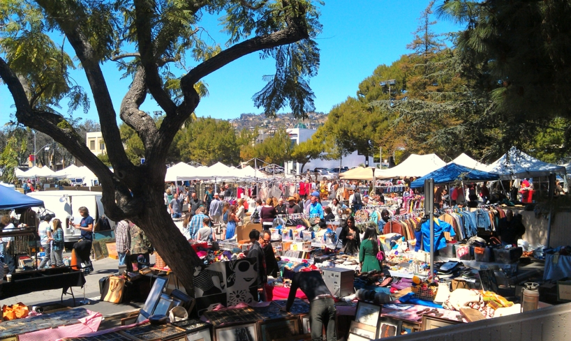 Vendors come to sell their goods at the Melrose Trading Post, a.k.a. the Fairfax Flea Market