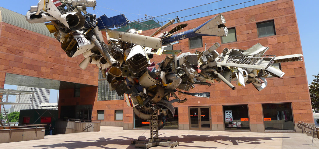Mark Thompson's Airplane Parts sculpture at the Museum of Contemporary Art