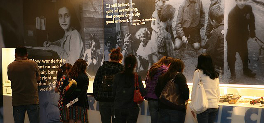 An exhibit at the Museum of Tolerance in Los Angeles, California