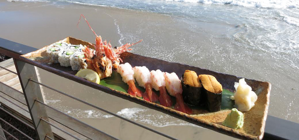 Dine on delicious food while taking in the ocean view at Nobu Malibu